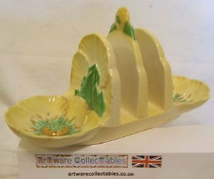 Carlton Ware Yellow Buttercup Toastrack - immaculate - SOLD